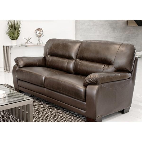 Abbyson 'Wilshire' Premium Top-grain Leather Sofa