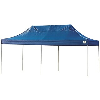 Shelterlogic Blue Straight Leg Pop-up Canopy with Roller Bag (10' x 20')