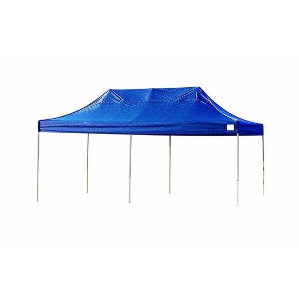 Shelterlogic Blue Straight Leg Pop Up Canopy With Roller Bag 10
