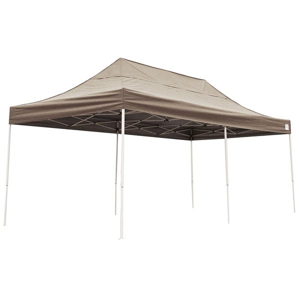 ShelterLogic Desert Bronze Straight Leg Pop-up Canopy with Roller Bag (10' x 20')