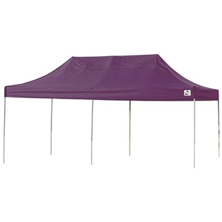 ShelterLogic Purple Straight Leg Pop-up Canopy with Roller Bag (10' x 20')