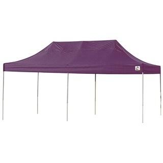 ShelterLogic Purple Straight Leg Pop-up Canopy with Roller Bag (10' x 20')