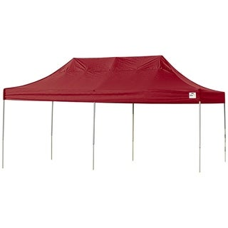 Shelterlogic Red Straight Leg Pop-up Canopy with Roller Bag (10' x 20')