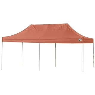 Shelterlogic Terracotta Blue Straight Leg Pop-up Canopy with Roller Bag (10' x 20')