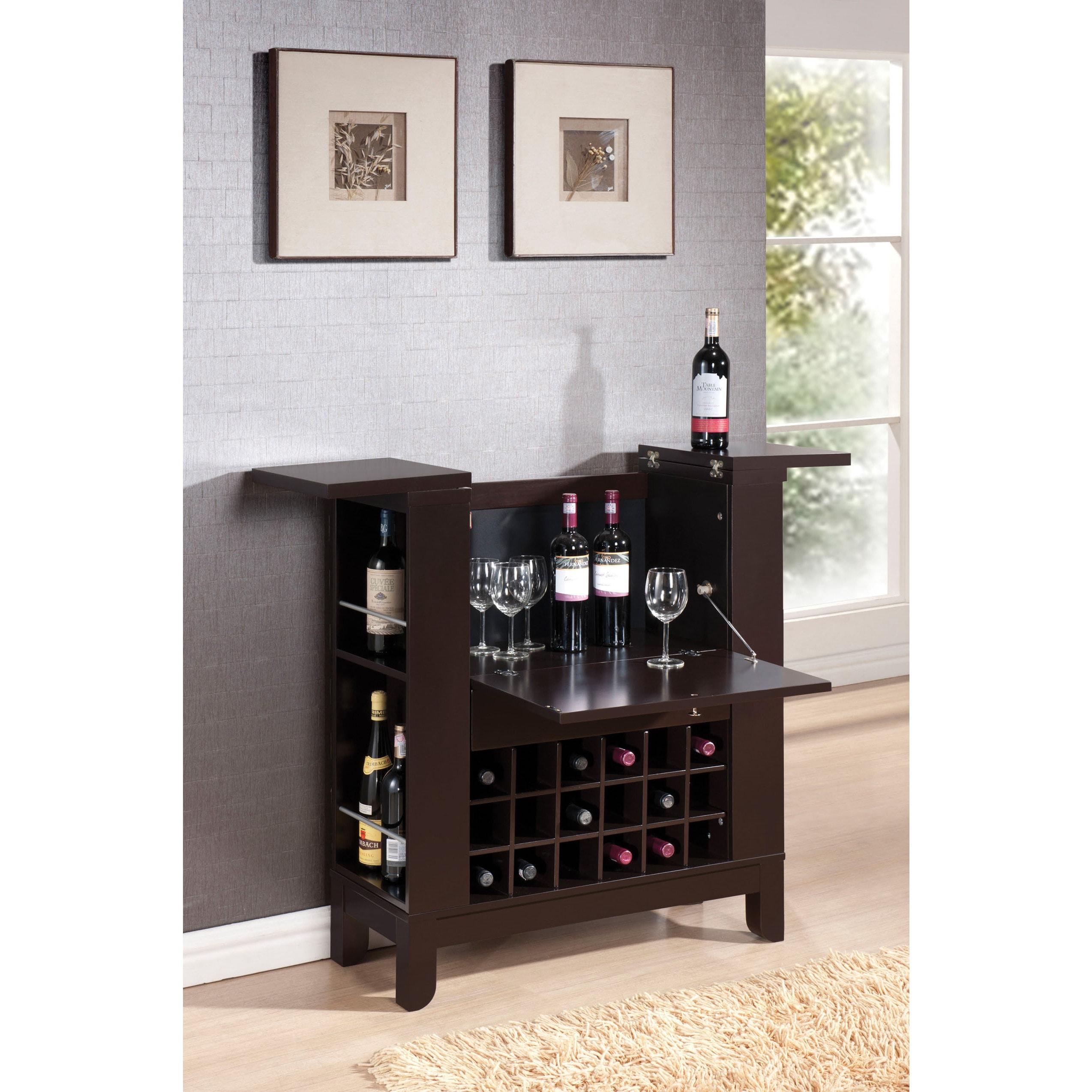 "ACME Nelson Wenge Wine (Red) Cabinet (wenge, 32"" x 13"" x ..."