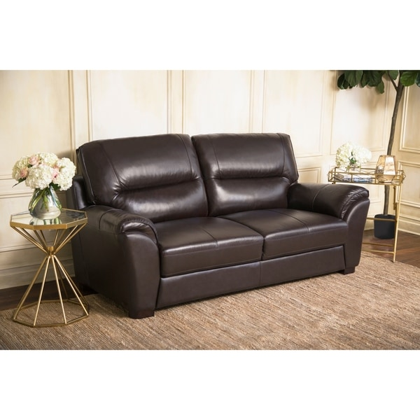 top grain leather sofa sale shop abbyson caprice top grain leather sofa on 8549