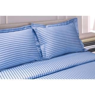 Miranda Haus 600 Thread Count Stripe Cotton Blend Duvet Cover Set
