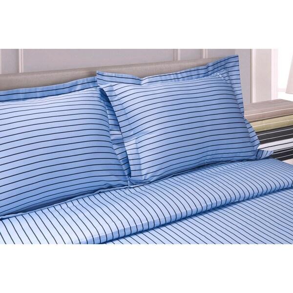 Superior 600 Thread Count Bahama Stripe Cotton Blend Duvet Cover Set