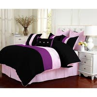 Superior Florence Purple 8-piece Comforter Set
