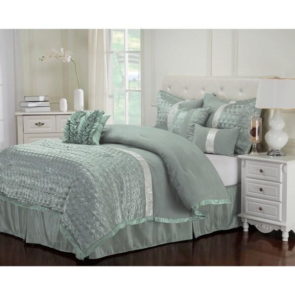 Superior Wrinkle Resistant 7-piece Dannica Comforter Set