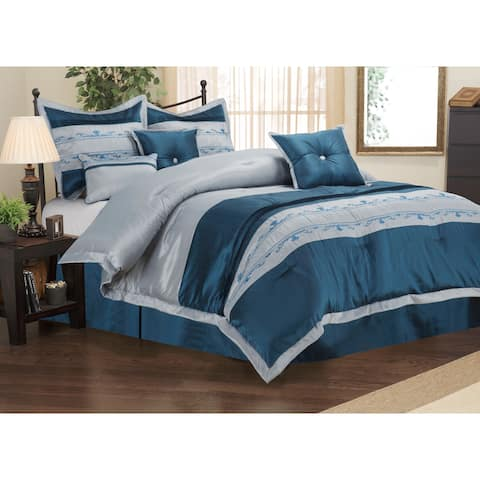 Miranda Haus Wrinkle Resistant 7-piece Carrington Comforter Set