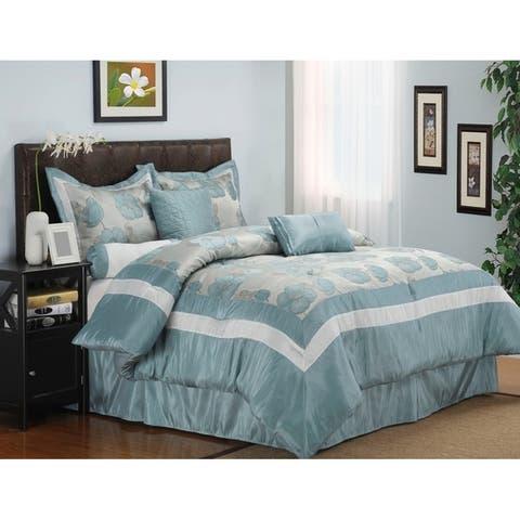 Miranda Haus Wrinkle Resistant Aloha 7-piece Comforter Set