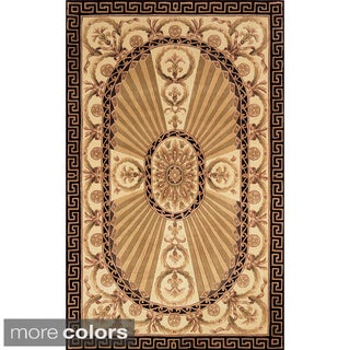 Aubusson Regal Hand-tufted Wool Area Rug (3'6 x 5'6)