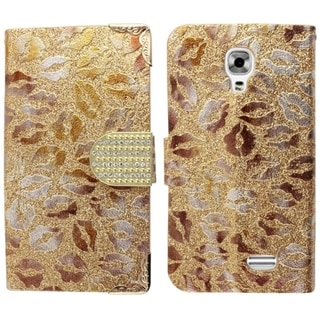 Insten Design Pattern Leather Fabric Phone Case Cover with Wallet Flap Pouch/ Diamond For LG F70 D315