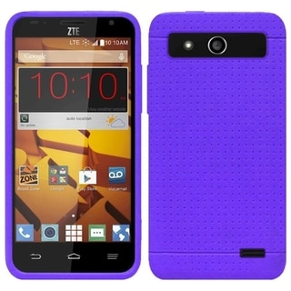 Insten Plain Rugged Silicone Skin Gel Rubber Phone Case Cover For ZTE Speed