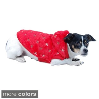 Anima Red Pet Puppy Dog Hoodie with Sequins