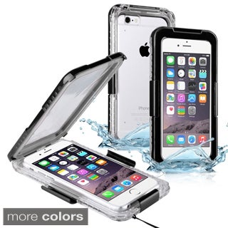 Insten Plain Hard Snap-on Waterproof Phone Case Lanyard for Apple iPhone 6/ 6s