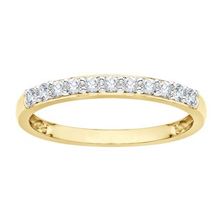 14k Yellow Gold 1/4ct TDW Diamond Wedding Band