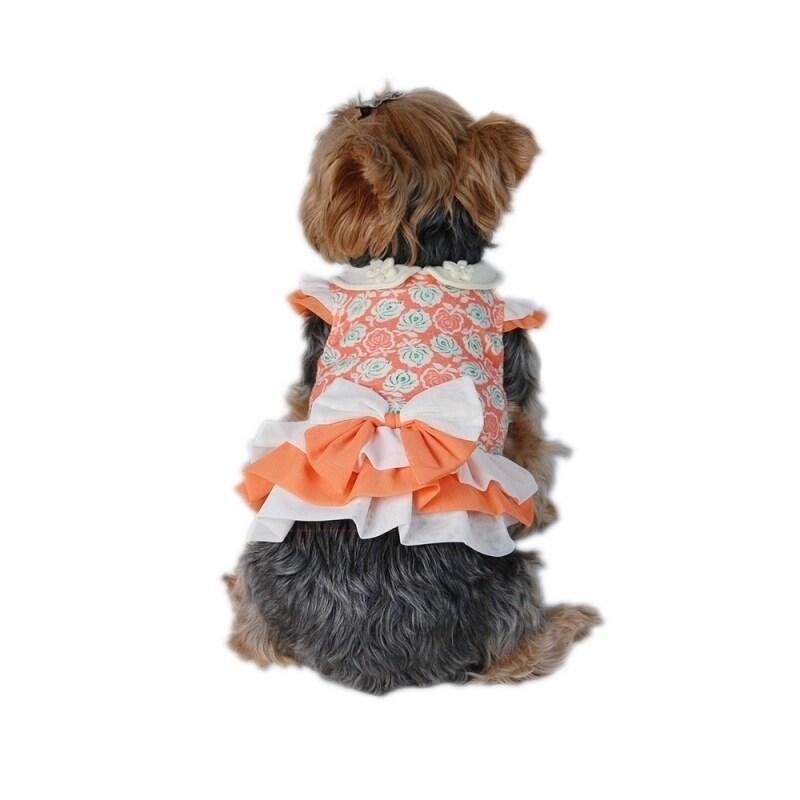 Anima Orange Pet Puppy Dog Flora Dress (l)