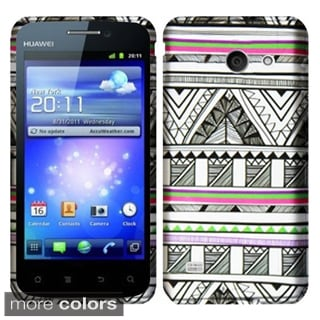 Insten Design Pattern Hard Snap-on Rubberized Matte Phone Case Cover For Huawei Tribute Fusion 3