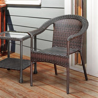 Furniture of America Dahlee Espresso Wicker Inspired Patio Chair