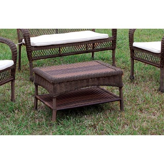 Furniture of America Koralie Brown Wicker Inspired Coffee Table