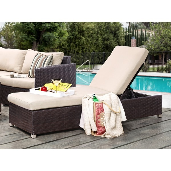 Shop Furniture Of America Patty Outdoor Adjustable Chaise
