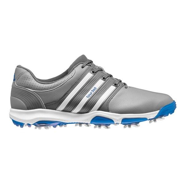 Adidas Men's Tour360 x Grey/FTW White/Bahia Blue Golf Shoes