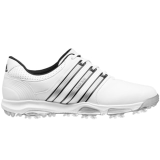 Adidas Men's Tour360 X White/Silver Metal/Core Black Golf Shoes
