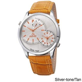 August Steiner Men's Swiss Quartz Multifunction Dual Time Leather Strap Watch (4 options available)