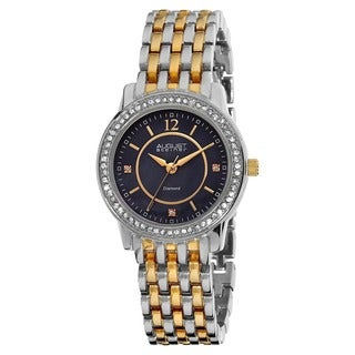 August Steiner Women's Swiss Quartz Diamond Base Metal Two-Tone Bracelet Watch