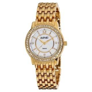 August Steiner Women's Swiss Quartz Diamond Base Metal Gold-Tone Bracelet Watch (Option: Gold)
