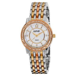 August Steiner Women's Swiss Quartz Diamond Base Metal Bracelet Watch