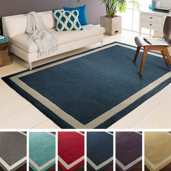 Corby Hand Tufted Border Acrylic Area Rug 5 X 7 6