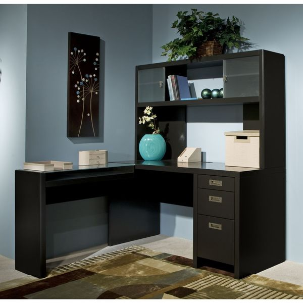 kathy ireland office by bush furniture l desk and hutch small office suite bush desk hutch office