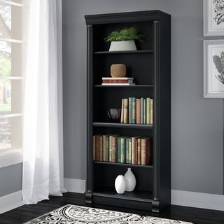 Bush Furniture Birmingham 5-Shelf Bookcase in Antique Black