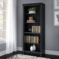 Bush Furniture Birmingham 5 Shelf Bookcase in Antique Black