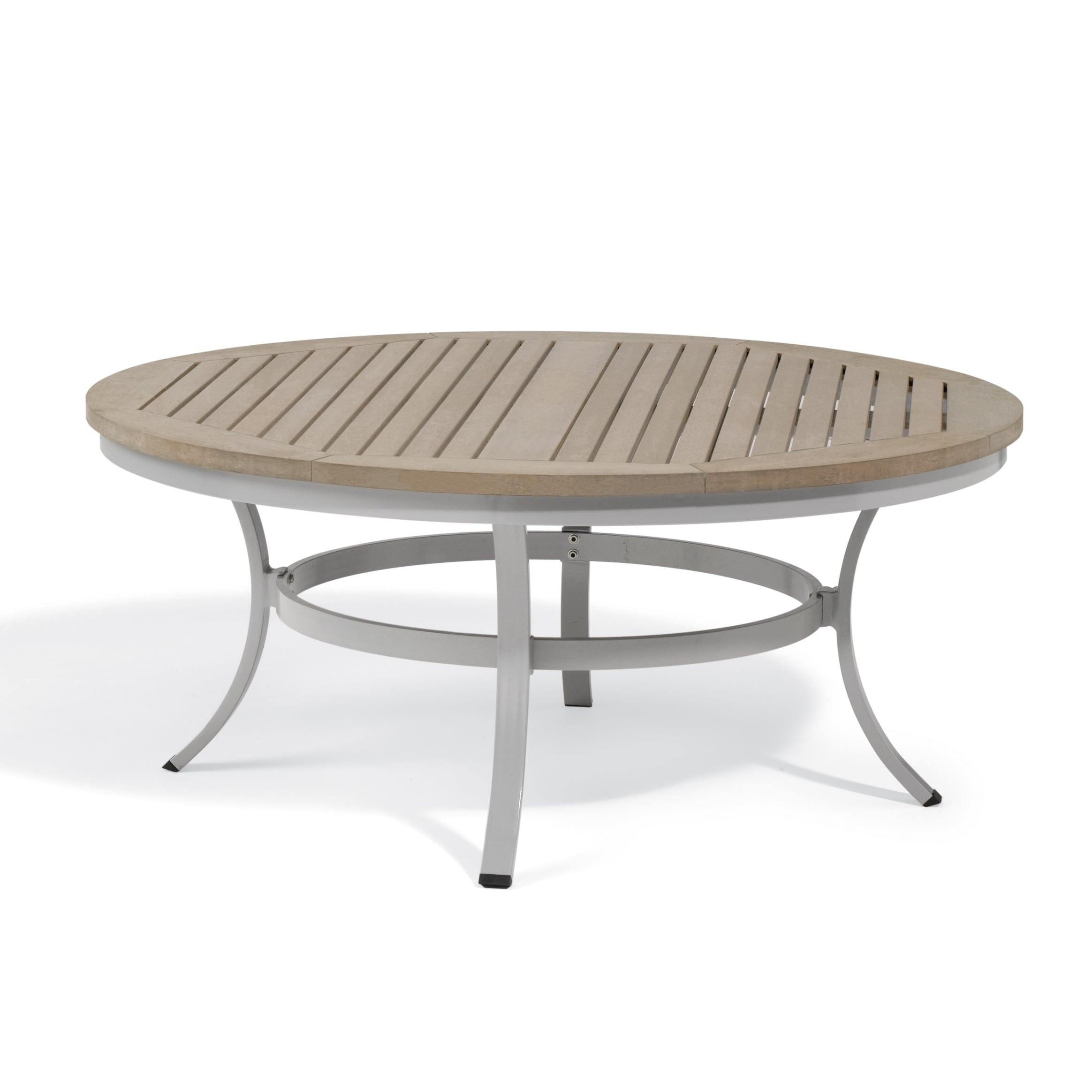 Oxford Garden Travira 48 inch Round Chat Table (Aluminum,...