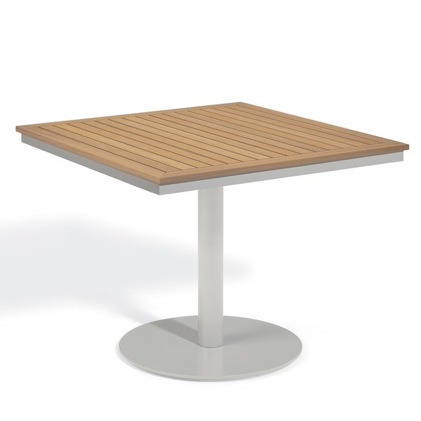 Oxford Garden Travira 36 Inch Square Bistro Table Free Shipping