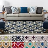 Hand-Tufted Devon Crosshatched Rug - 5' x 7'6