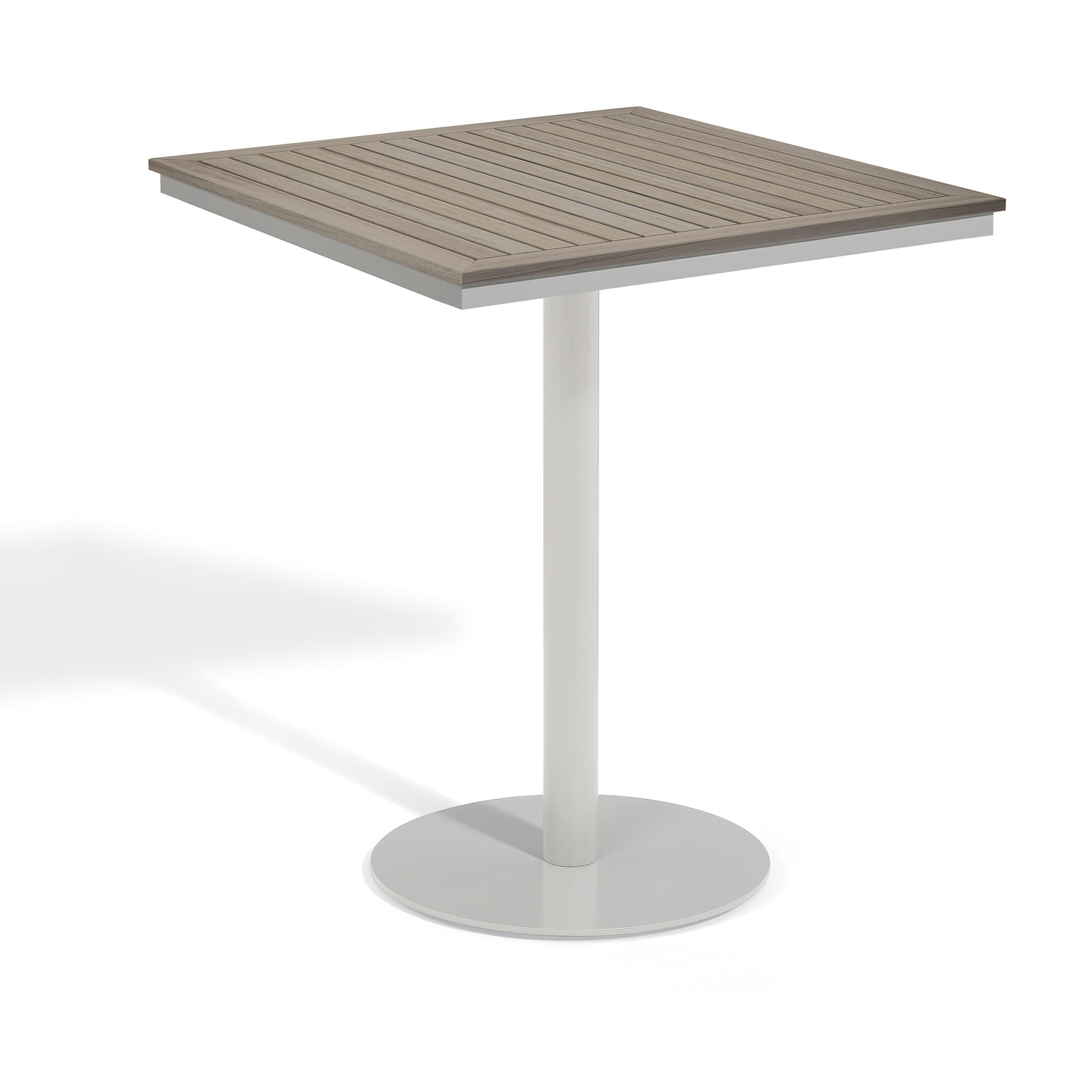 Oxford Garden Travira 36 inch Square Bar Table (Aluminum,...
