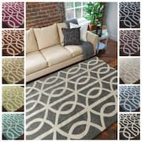 Hand-Tufted Dover Crosshatched Area Rug
