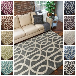 Hand-Tufted Dover Crosshatched Area Rug - 5' x 7'6