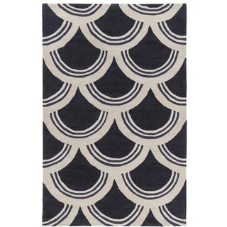 Hand-Tufted Erith Geometric Acrylic Rug (5' x 7'6)