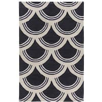 Hand-Tufted Erith Geometric Acrylic Area Rug
