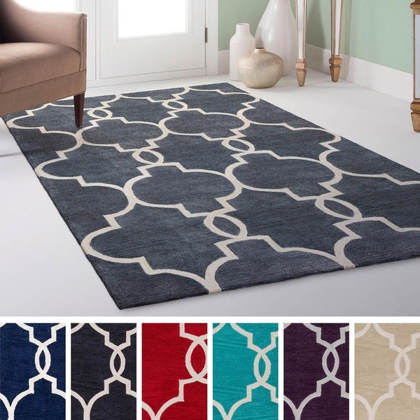 Shop Hand-Tufted Frome Moroccan Trellis Rug