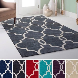 Hand-Tufted Moroccan Trellis Area Rug (5' x 7'6)