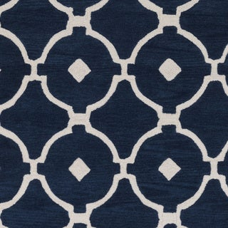 Hand-Tufted Grays Moroccan Trellis Rug