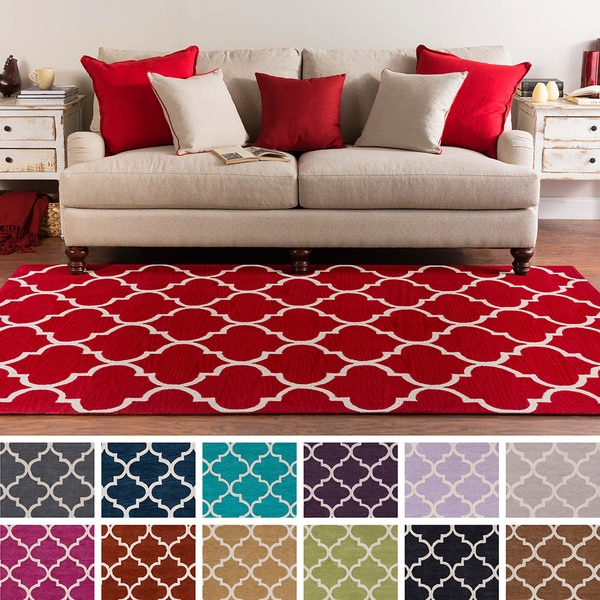 Shop Hand Tufted Cowes Moroccan Trellis Rug 7 6 X 9 6
