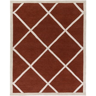 Hand-Tufted Fowey Crosshatched Rug (7'6 x 9'6)